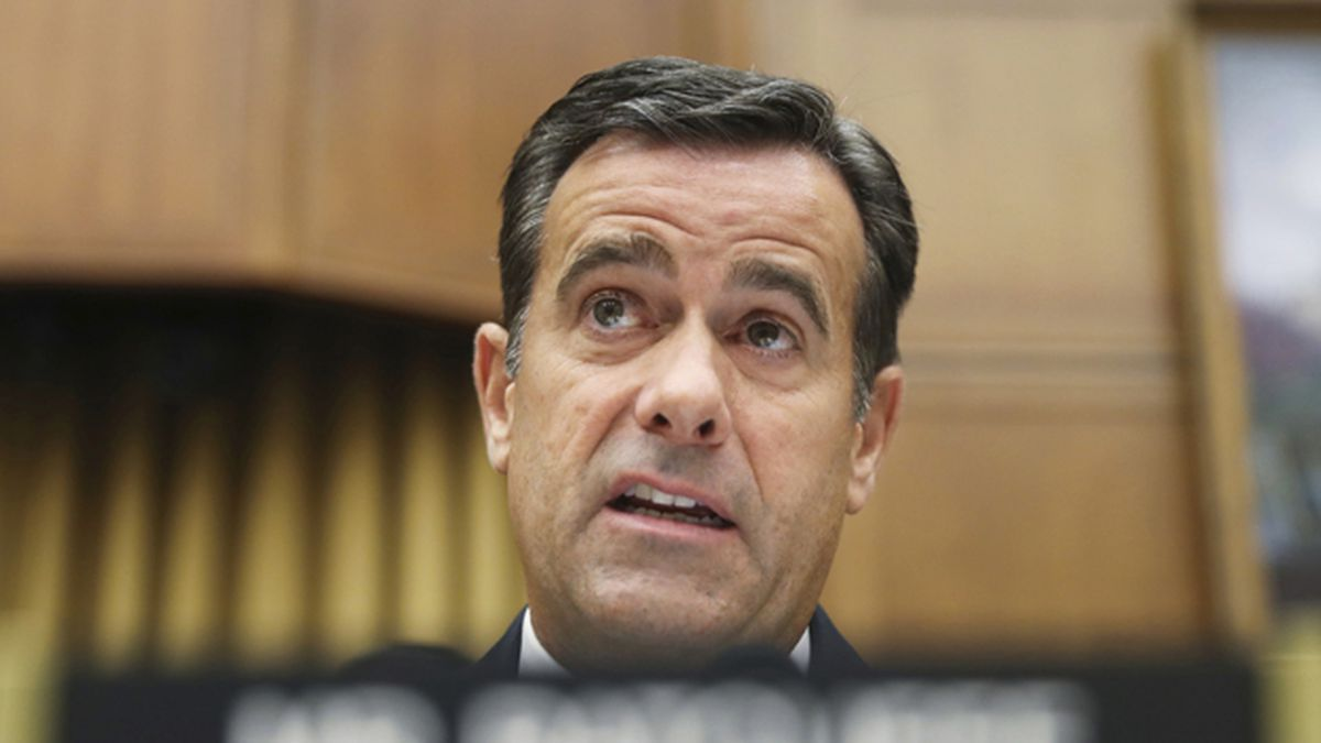 In this Wednesday, July 24, 2019 file photo, Rep. John Ratcliffe, R-Texas, questions former special counsel Robert Mueller as he testifies before the House Intelligence Committee on his report on Russian election interference, on Capitol Hill in Washington. (AP Photo/Andrew Harnik, File)