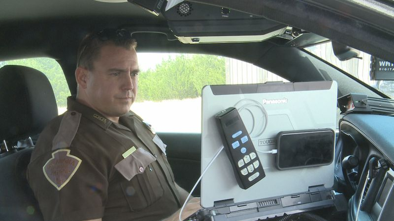 An Oklahoma state trooper shares his story from the multiple agency arrest of a man who...