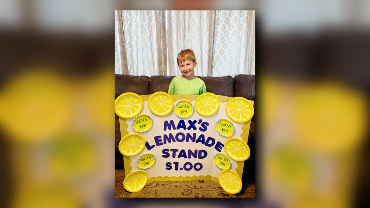 An Ardmore 8-year-old kid decided to turn lemons into lemonade for those in need, buy selling lemonade for charity.