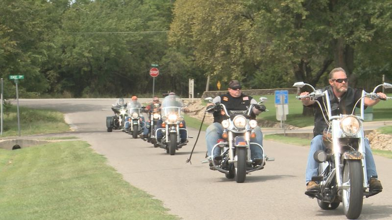 120 people got together in Dougherty Saturday morning for a poker run with the Arbuckle Rally...