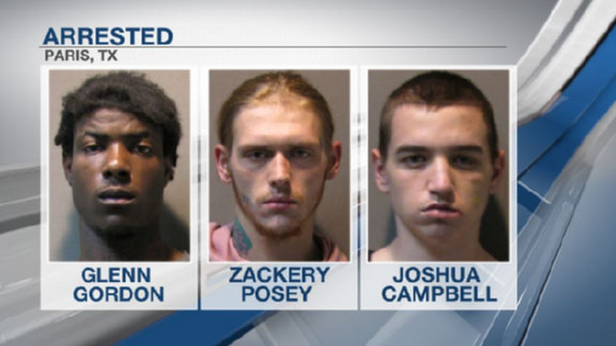 Three men were arrested following a robbery in Paris Tuesday morning.