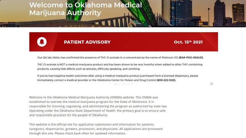 Oklahoma Medical Marijuana Authority warns about potent THC strain