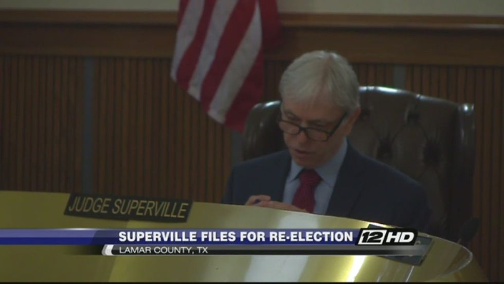 Lamar County Judge Chuck Superville files for re-election