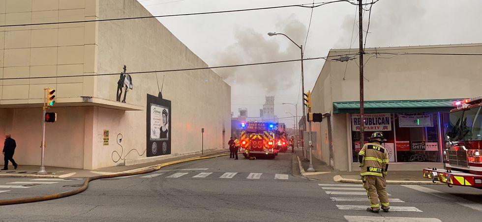 Downtown Sherman fire