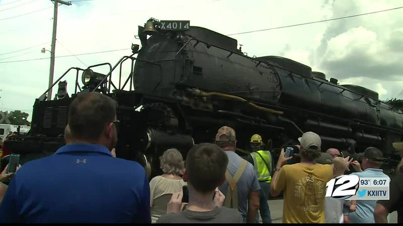 The Union Pacific steam engine is headed to Fort Worth next and then Houston, New Orleans; with...