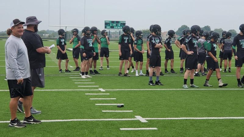 Tioga Bulldogs football practice