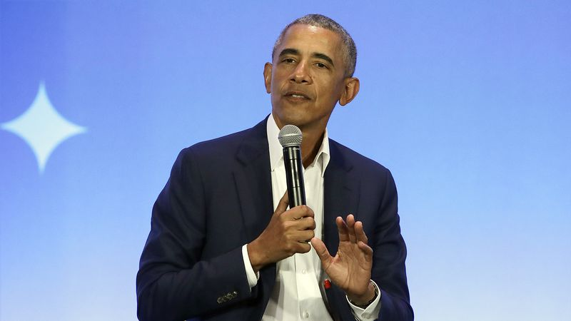 This Feb. 19, 2019, file photo shows former President Barack Obama speaking at the My Brother's...