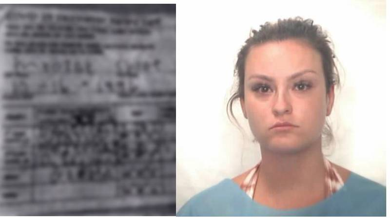 Chloe Mrozak, 24, arrested in Honolulu for allegedly using a fake vaccine card.