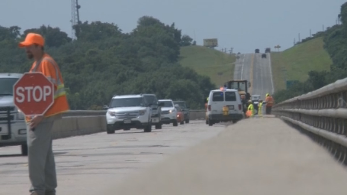 The Willis Bridge will be narrowed to one lane nightly through Sunday.