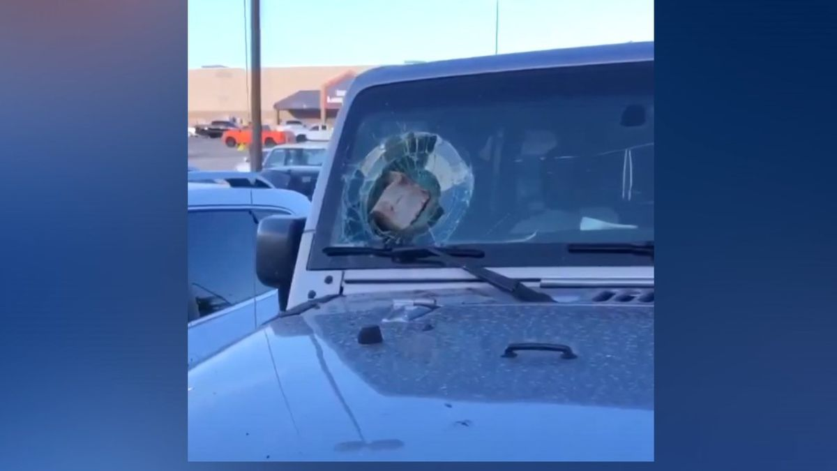 A man was arrested Sunday for smashing windows at restaurants and cars in Sherman.