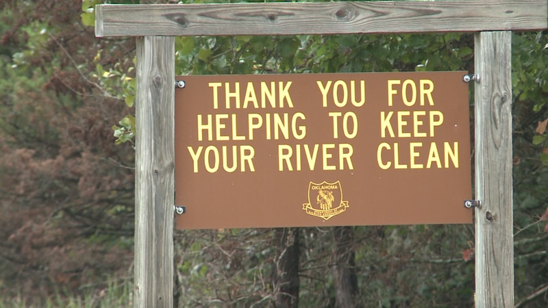 A local group spent Saturday morning cleaning up the Blue River campground.