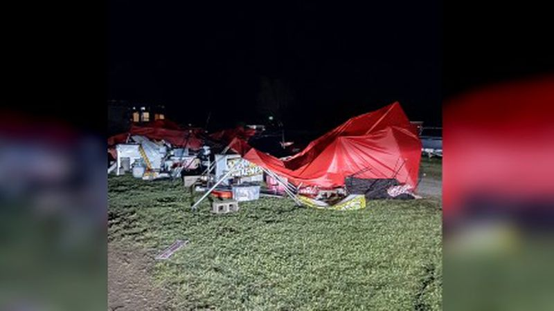 Weekend storms in Texoma caused damage at Bonham Trade Days, and even led to a vendor's death.