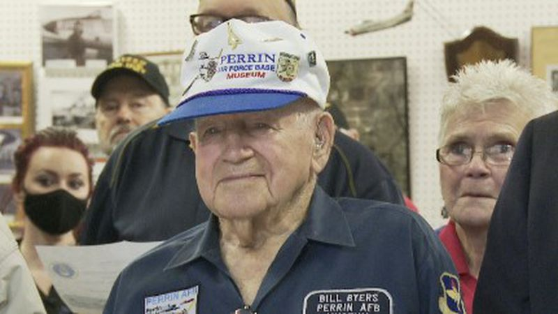 The Perrin AFB Historical Museum opened up new extension Saturday morning naming it after Bill...
