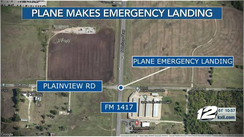 A plane made an emergency landing Sunday morning.