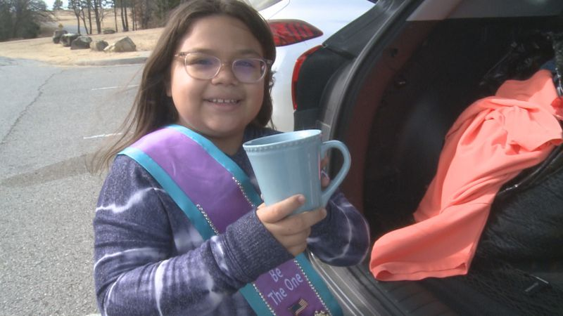 A 9 year old Ardmore girl is collecting food, clothing, and other necessities for homeless...