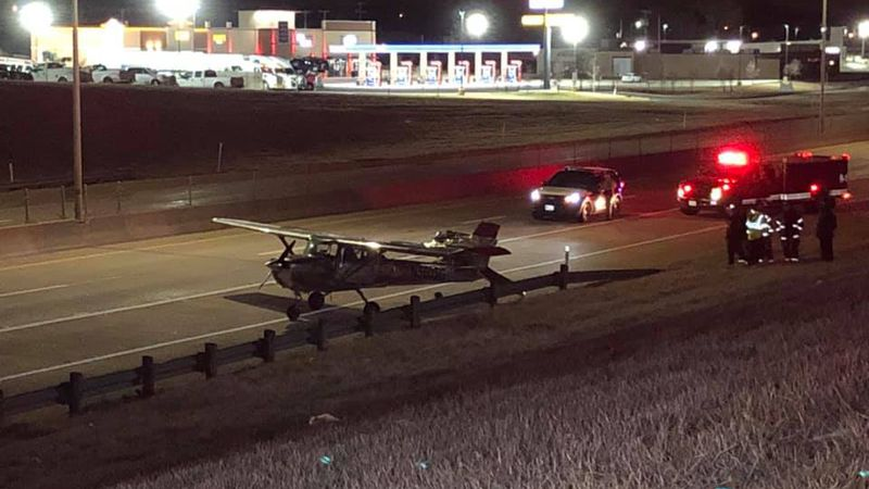 A plane had to make an emergency landing on Interstate 35 in Gainesville just after 10:30...