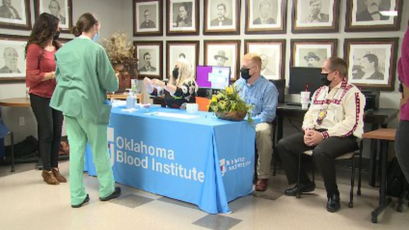 The Oklahoma Blood Institute joined with the Choctaw Nation for a plasma drive in Durant.