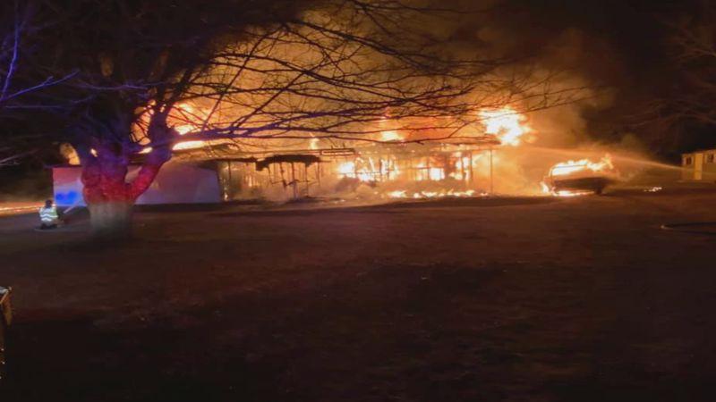 A Calera homeowner loses his home early Christmas morning.