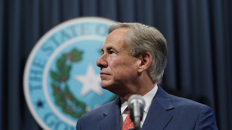 Texas Gov. Greg Abbott speaks attends a news conference where he provided an update to Texas'...