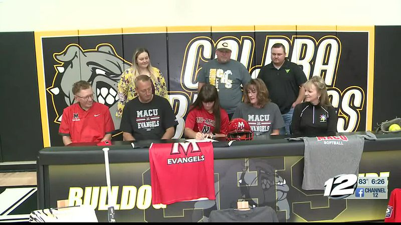 Calera's Zoey Cranford signs with MACU