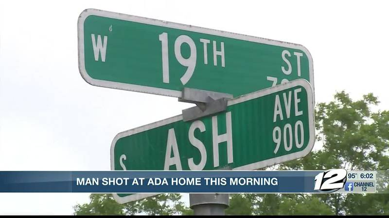 A Pontotoc County man was shot in an Ada neighborhood Wednesday morning.