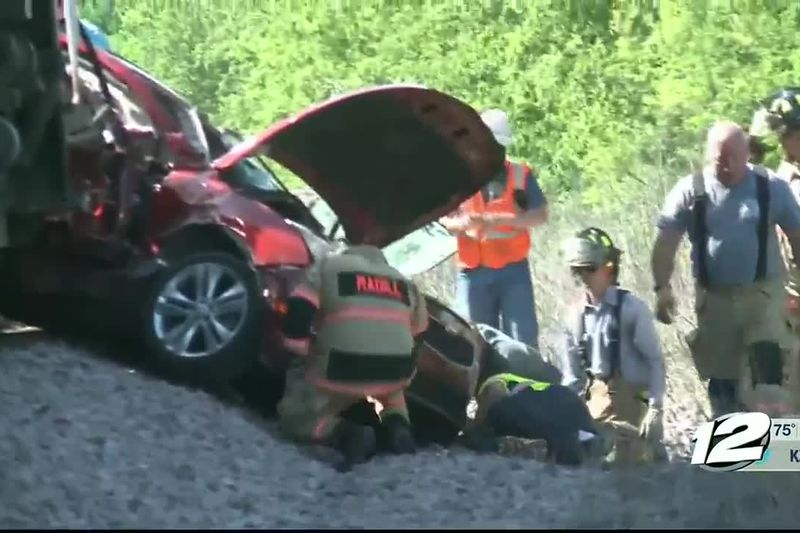 A woman was flown to a Plano hospital in critical condition after her car was struck by a train...