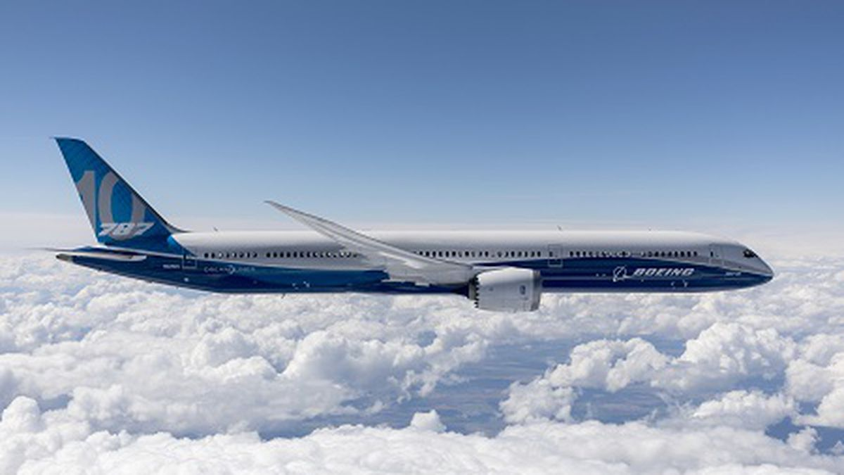 The Boeing 787 is used mostly for international routes.