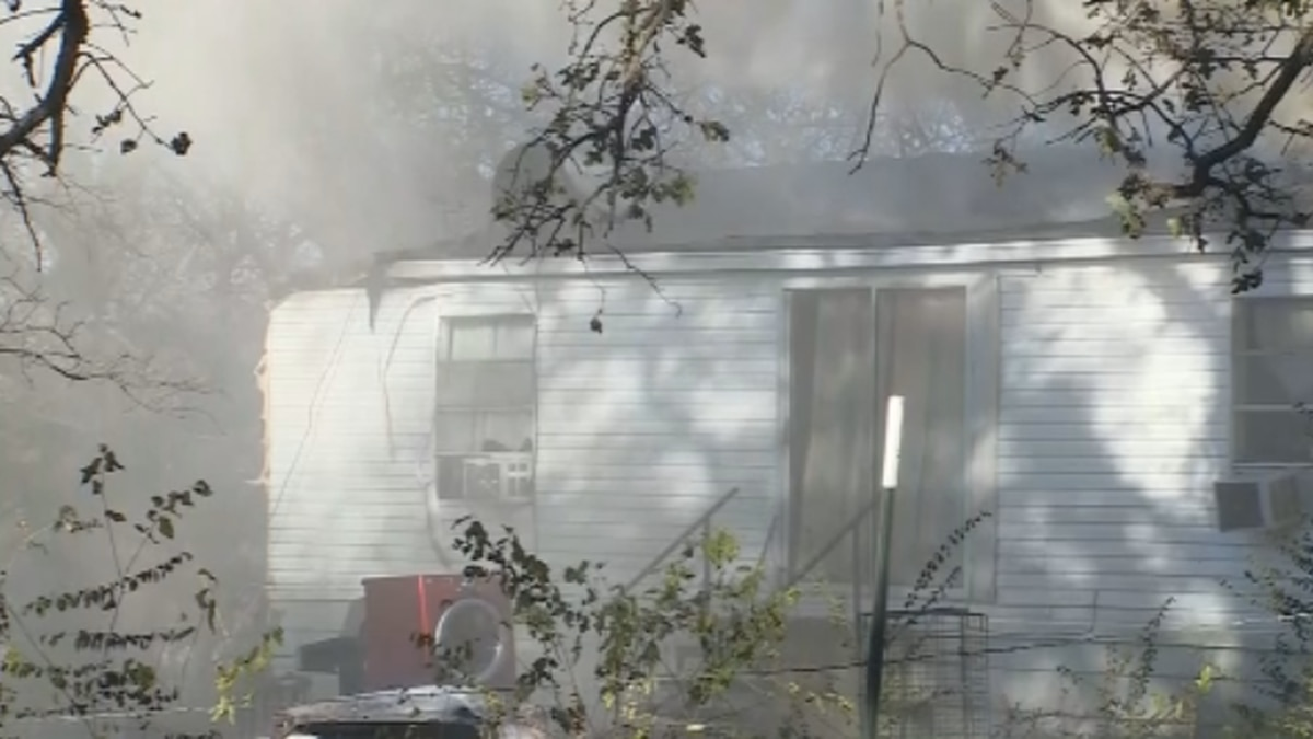 A Denison home is a total loss after a fire Monday afternoon.