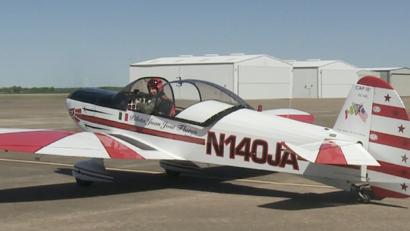 International Aerobatic Club practicing at the North Texas Regional Airport for their next...
