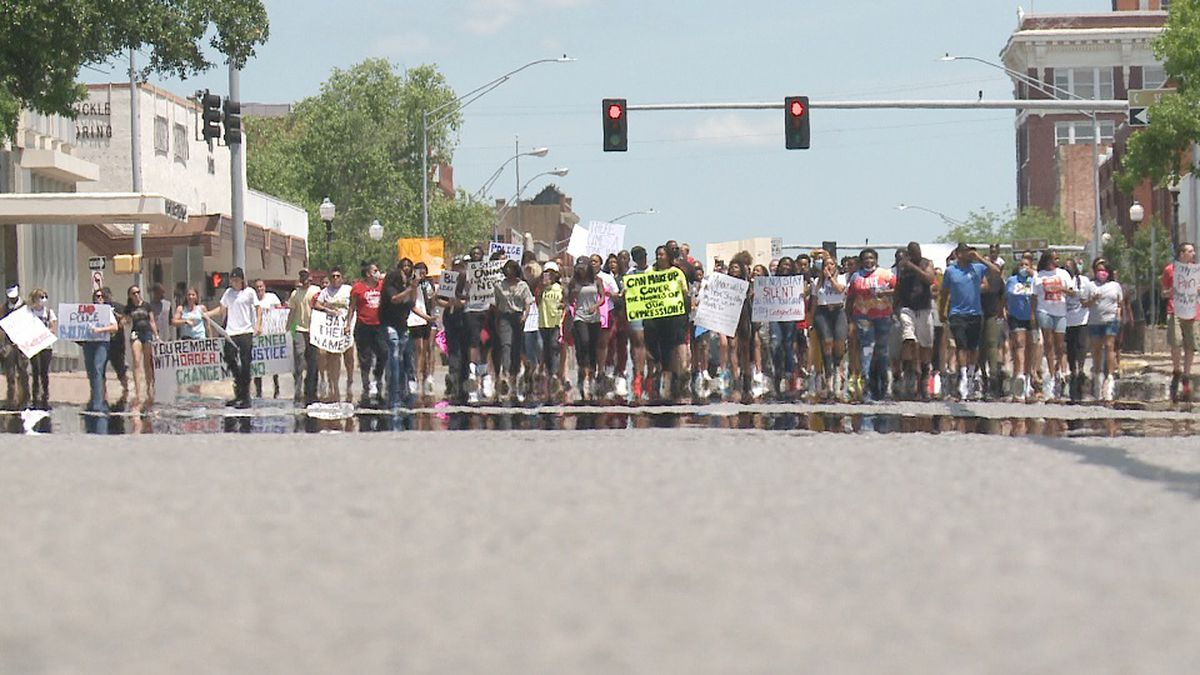 Around 130 people showed to the HFV Wilson Community Center in Ardmore to peacefully protest the in-custody death of George Floyd in Minneapolis, Minnesota.