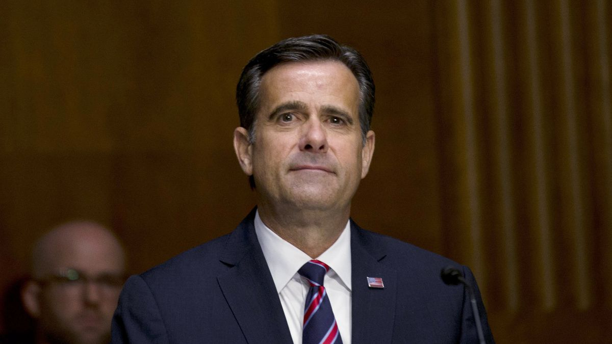 Rep. John Ratcliffe R-Texas, testifies before a Senate Intelligence Committee nomination hearing on Capitol Hill in Washington, Tuesday, May. 5, 2020. The panel is considering Ratcliffe's nomination for Director of National Intelligence.  (Gabriella Demczuk/The New York Times via AP, Pool)