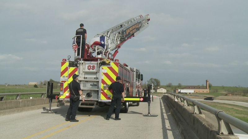 Gainesville fire department holds an honorable act of service for fallen Celina police officer...