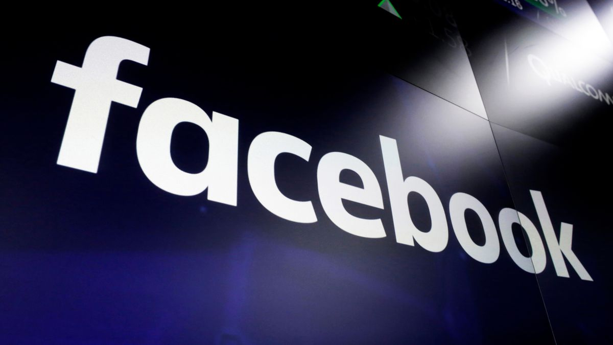 FILE - This March 29, 2018, file photo, shows the logo for social media giant Facebook at the Nasdaq MarketSite in New York's Times Square. Facebook says it has removed a small network of fake accounts and pages that originated in China and focused on disrupting political activity in the U.S. and several other countries. (AP Photo/Richard Drew, File)