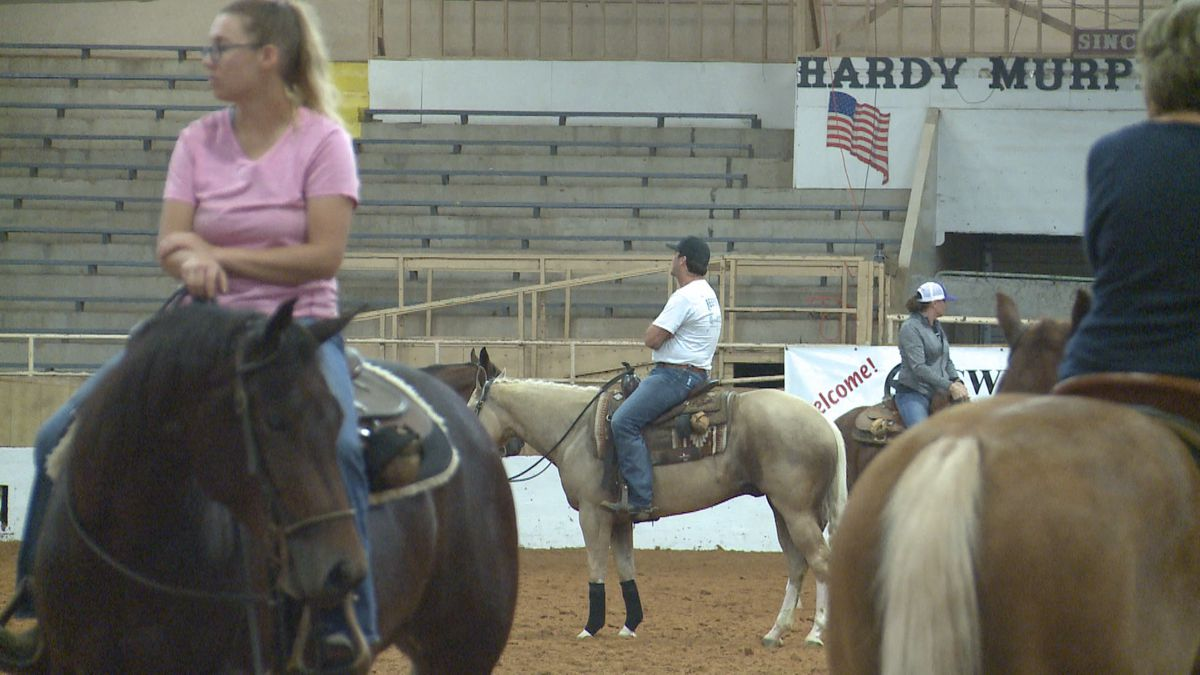Horse reining competitors from all over made their way to Ardmore to compete for the final time before a championship in Oklahoma City.
