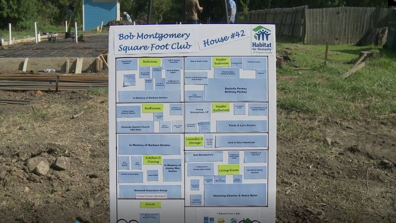 Habitat for Humanity of Grayson County started building home number 42 on Saturday