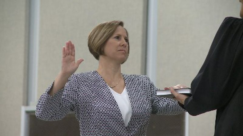 Fannin County made history Friday morning, swearing in Edwina Lane, their first female elected...