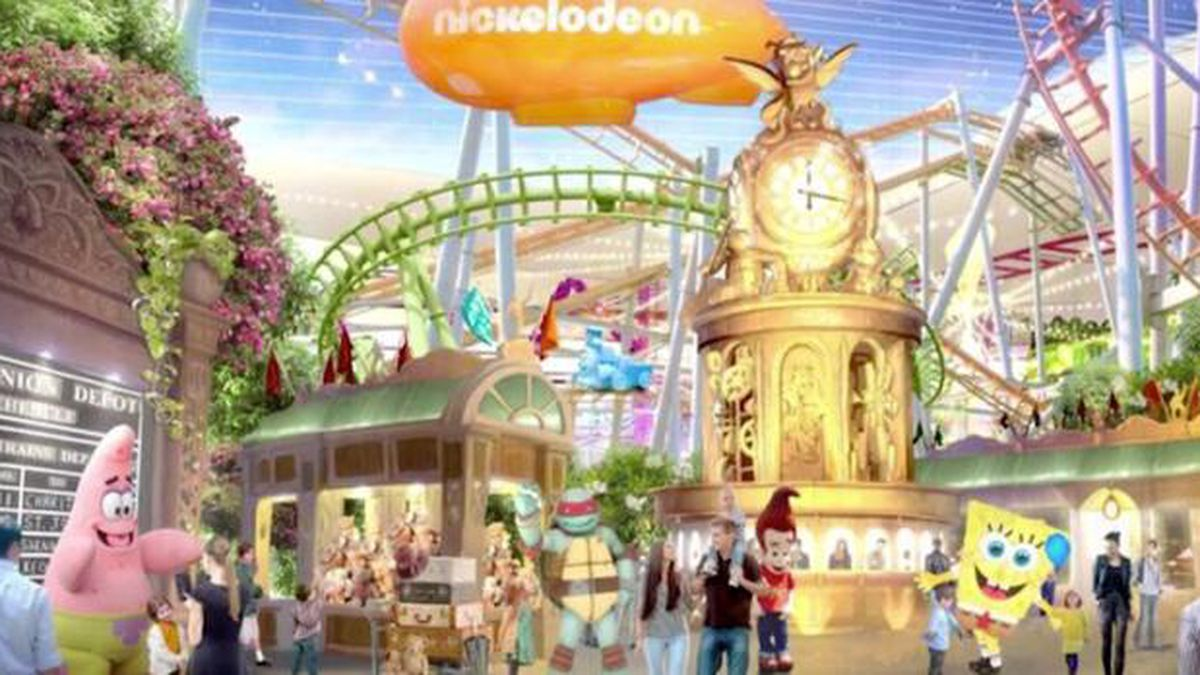 Nickelodeon Universe, the largest indoor theme park in North America, opens in New Jersey this coming Friday. (Source: American Dream/CNN)