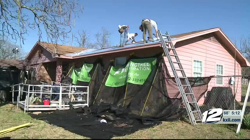 A Cooke County woman has a brand new roof over her head after she was scammed out of $7,000 by...