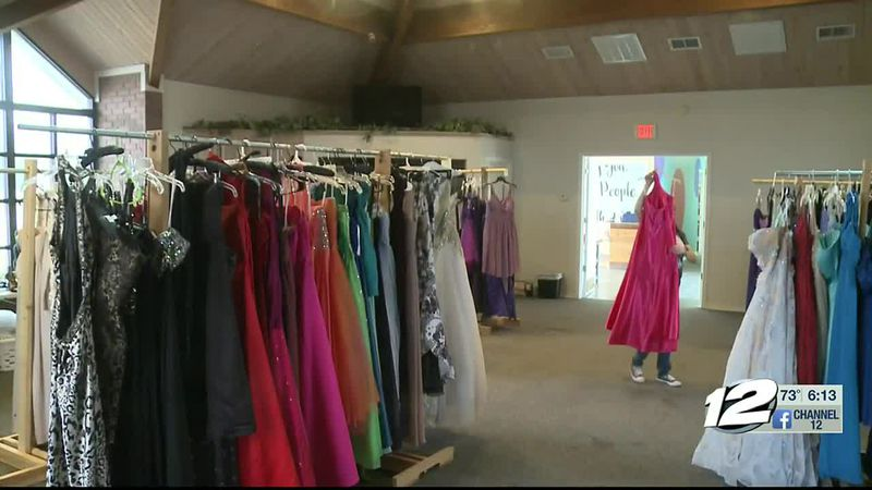 One local organization has decided to ease the tensions of prom dress shopping for families...