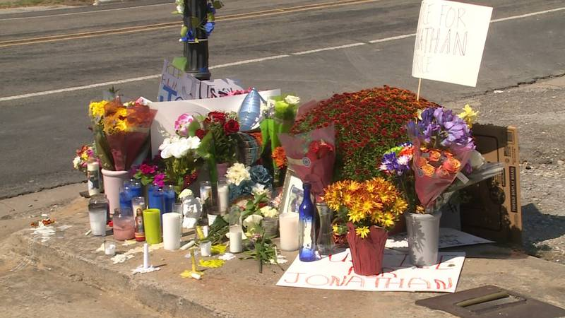 The Wolfe City community has created a memorial at the gas station where Jonathan Price was...