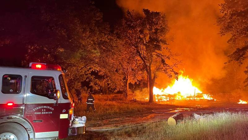 A Johnston County home burned down Saturday night and the sheriff's office is calling it...