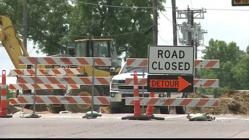 The city of Sherman has extended construction on Lamberth Road, after crews found a sewage line...