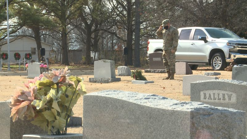 Communities across America are making sure fallen veterans are remembered by placing holiday...
