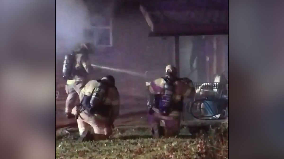 A Sherman home is damaged after a fire Monday morning.