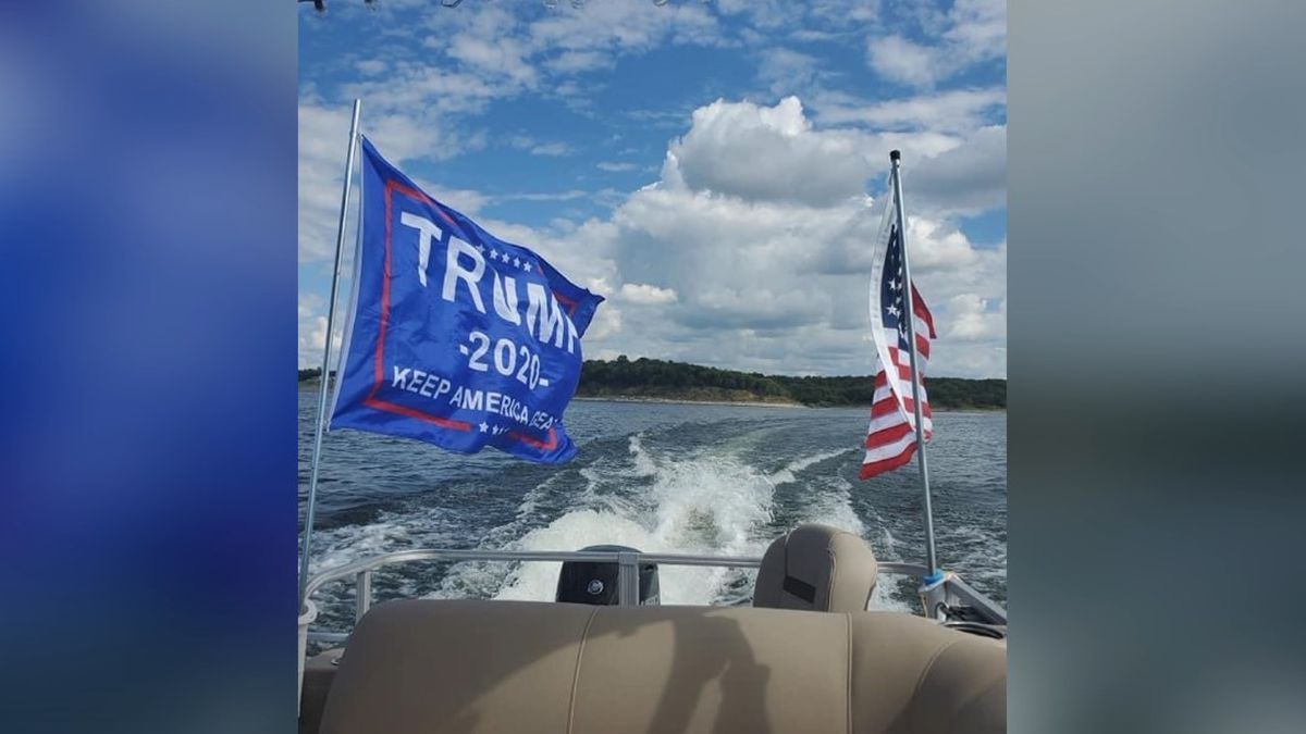 What started as a get-together with friends, became a boat parade hundreds of Trump supporters...