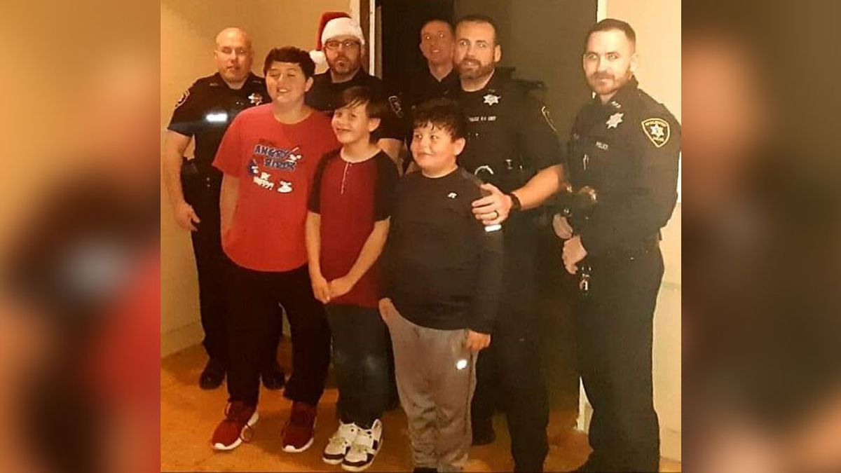 McAlester police officers helped replace Christmas gifts for three boys after the presents were...
