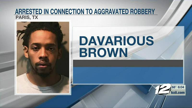 Paris police arrested a man in connection to an armed robbery on Wednesday.
