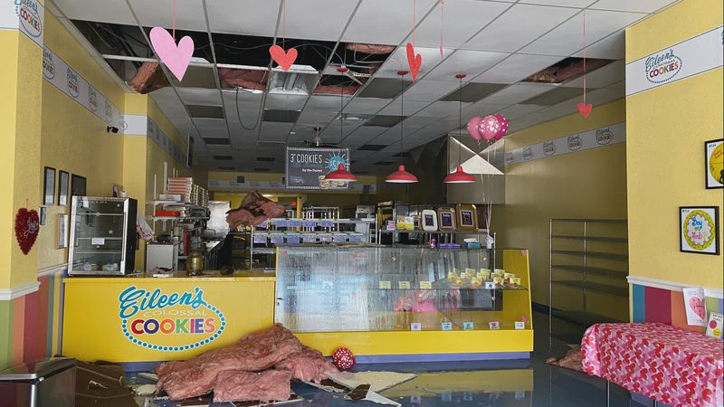 Eileen's Colossal Cookies in Ardmore was left in ruins after the winter storm went through...