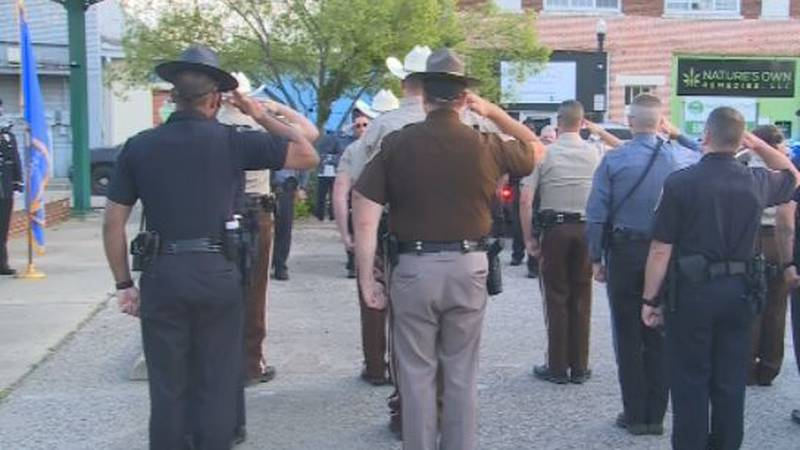 Durant Police Department ceremony honors fallen Bryan Co. law enforcement officers.