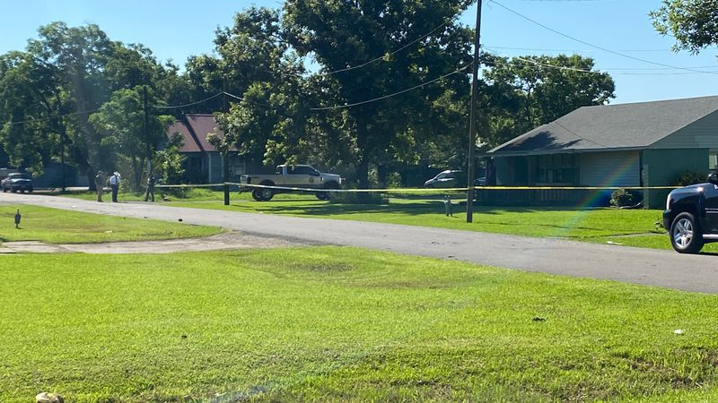 Crime scene now lines the scene of an overnight standoff at a Honey Grove home that left an...